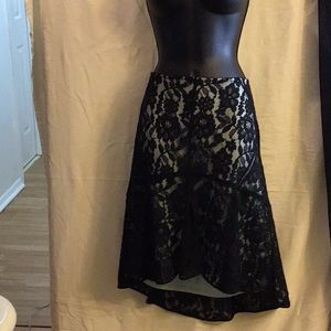Robert Rodriguez Lace Black Skirt Size 8